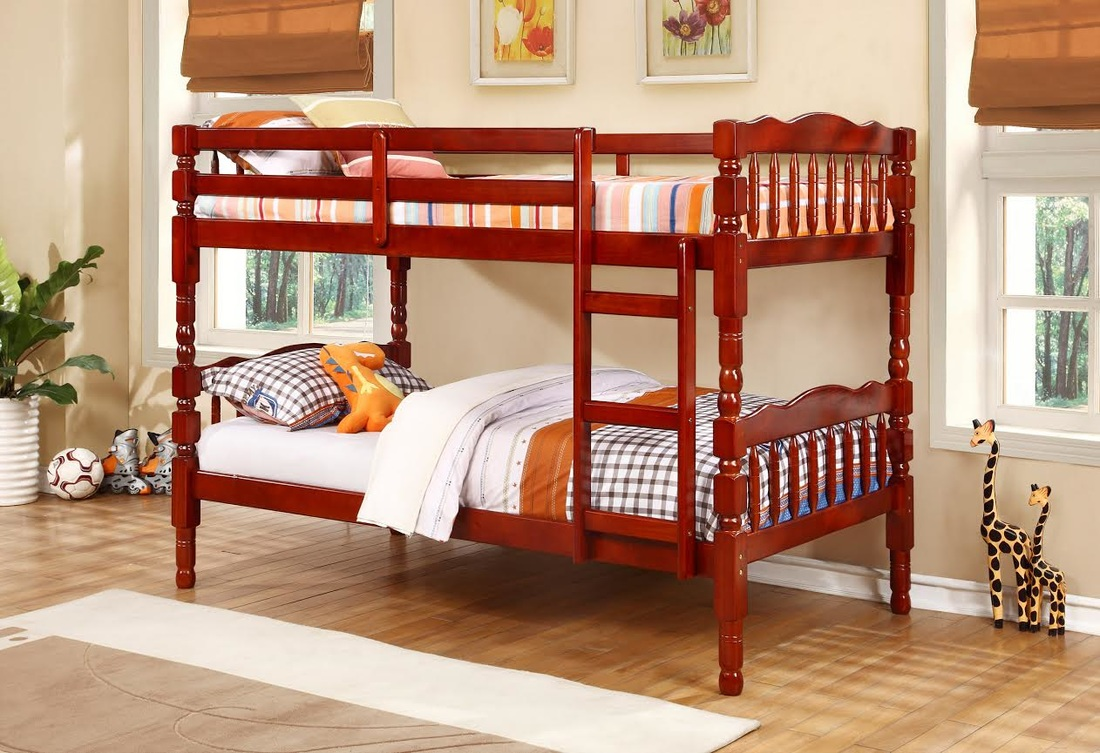 Happy Twin Over Twin Bunk Bed Direct Discount Furniture